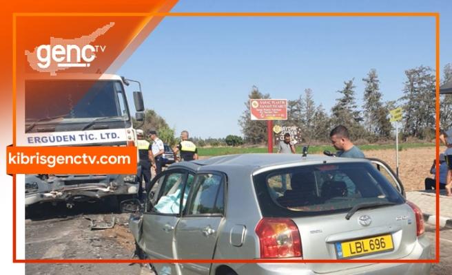 Lefke-Güzelyurt Anayolu üzerinde trafik kazası: 1 ölü