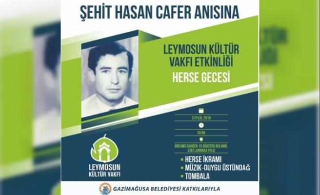 Leymosun Kültür Vakfı'nın 6.Geleneksel Herse Gecesi 3 Eylül'de