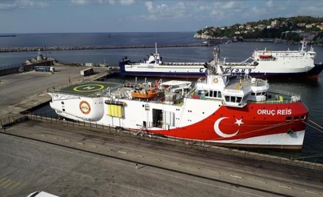 Oruç Reis'in Doğu Akdeniz yolculuğu devam ediyor