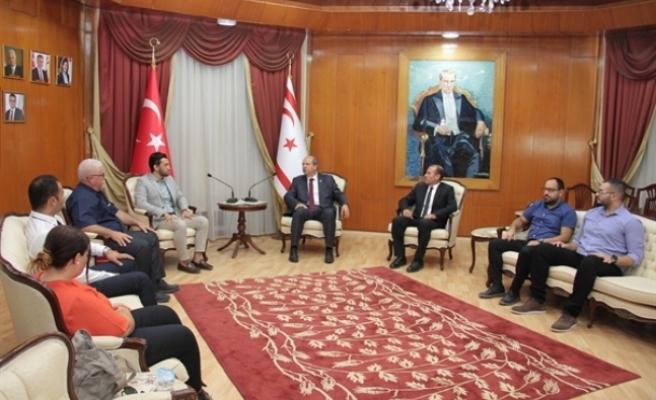 Türkiye Masatenisi Federasyonu Başbakan tarafından kabul edildi