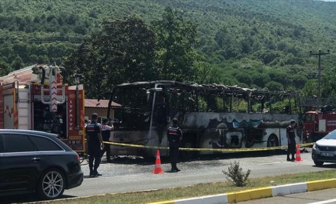 Yolcu otobüsünde yangın: 5 kişi hayatını kaybetti