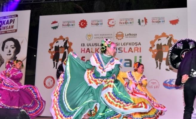 13. Uluslararası Lefkoşa Halk Dansları Festivali,  sona erdi