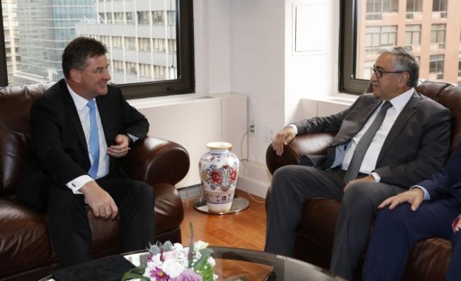 Akıncı, AGİT başkanlıgını yürüten Slovakya Dışişleri Bakanı ile görüştü