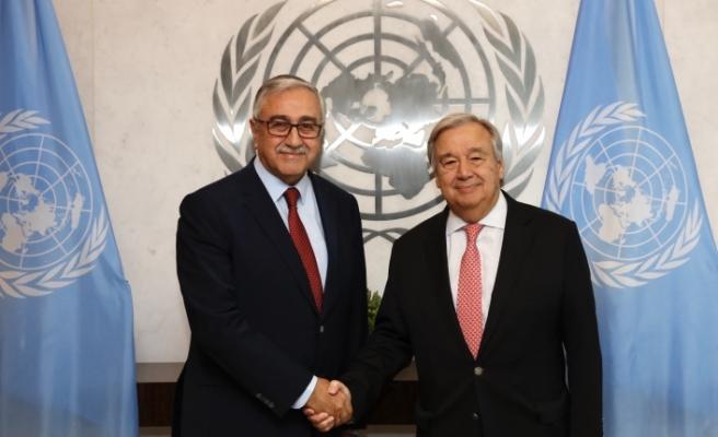Akıncı, BM Genel Sekreteri Antonio Guterres ile bir araya geldi