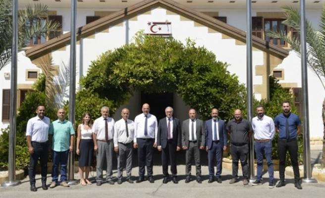 Akıncı, Özçınar veCittaslow Ağı'nda belediyelerin başkanlarını kabul etti