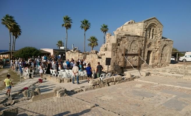 Ayfilon arkeolojik alanı ve Ayia Triada Bazilikası'nda çalışmalar tamamlandı