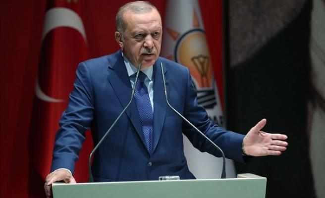 """Erdoğan: """"Kimse hakkımız olan konulardan bizi mahrum etmeye kalkamaz"""""""