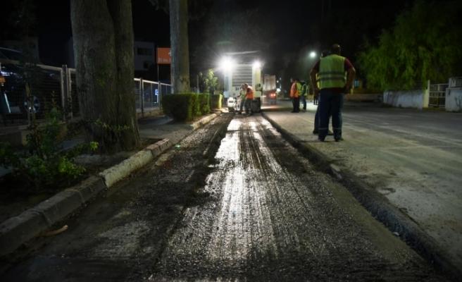 Lefkoşa'nın en işlek caddlerinde asfalt çalışması başladı