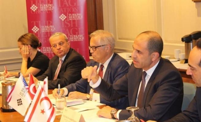 Özersay, New York'ta Turkish Heritage Organization'da konuştu