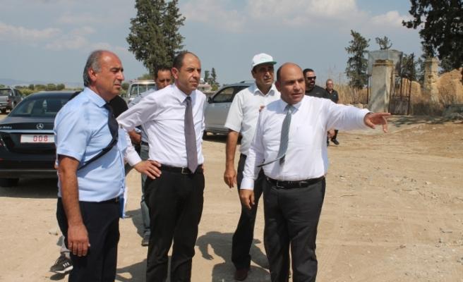 Özersay ve Atakan'dan Vadili'ye ziyaret