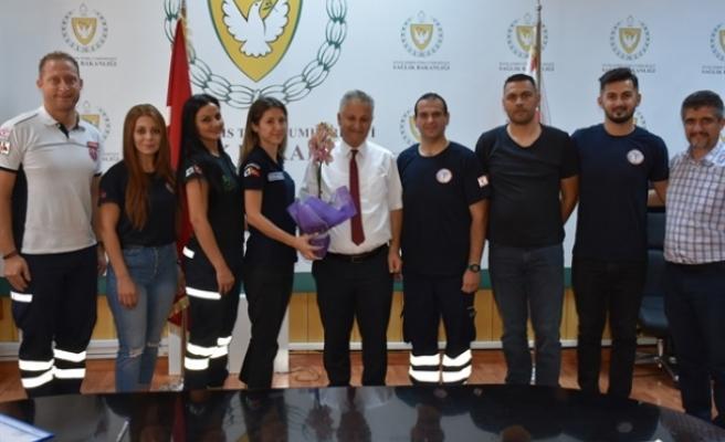 Pilli, Kıbrıs Türk Paramedikler Derneği'ni kabul etti