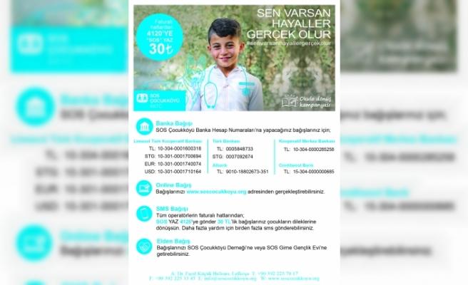 SOS çocukköyü okula dönüş kampanyası