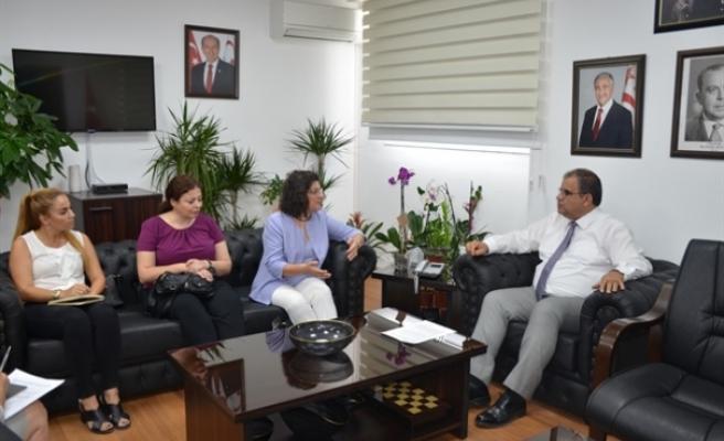 Sucuoğlu, DAÜ KAEM Yönetim Kurulu üyelerini kabul etti