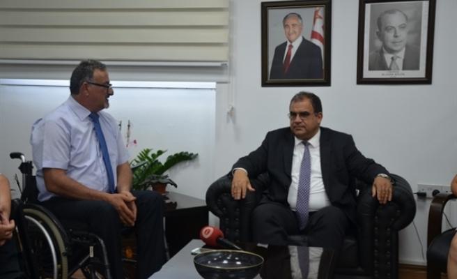 Sucuoğlu, Engelli Hizmetleri Koordinasyon Kurulu Başkanı ve yönetim kurulu üyelerini kabul etti