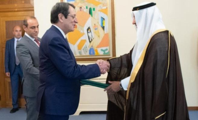 Suudi Arabistan'ın Güney Kıbrıs'taki ilk büyükelçisi güven mektubunu sundu