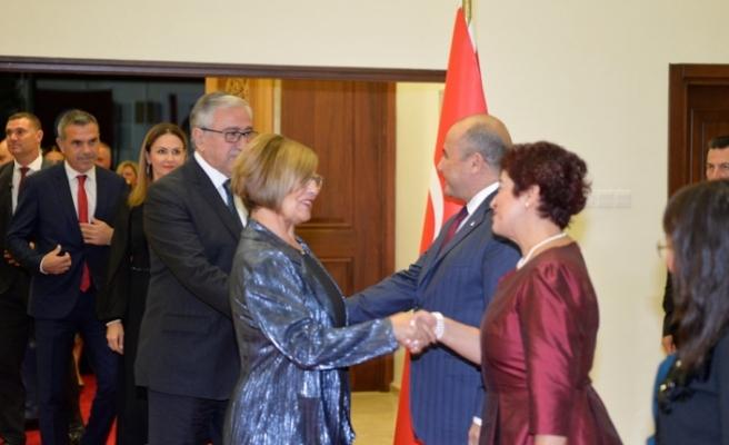 Akıncı, 29 Ekim Cumhuriyet Bayramı resepsiyonuna katıldı