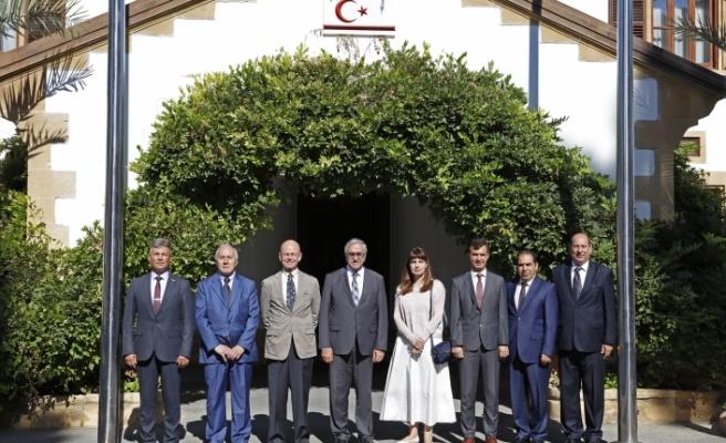 Akıncı, Sivil Savunma Teşkilatı Başkanı Necmi Karakoç'u kabul etti