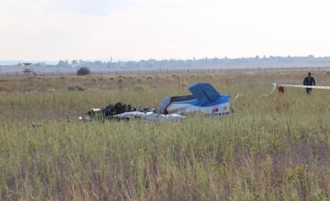 Geçitkale'de eğitim uçağı düştü...İki kişi hayatını kaybetti