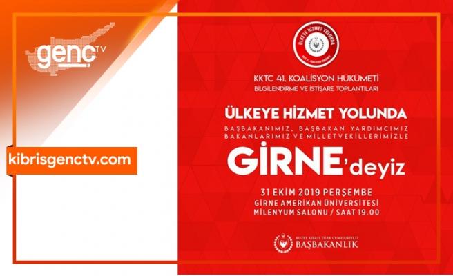 Hükümet üyeleri yarın Girne'de olacak