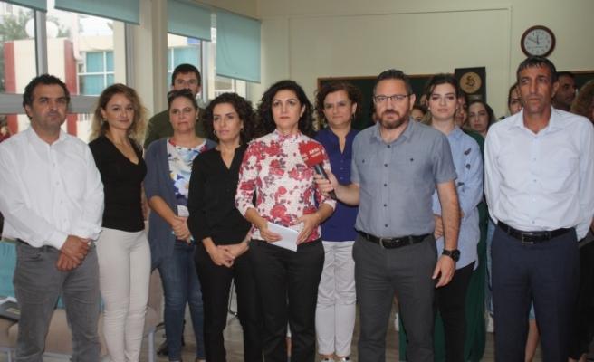 KTOEÖS'den Canbulat Özgürlük Ortaokulu'nda basın açıklaması