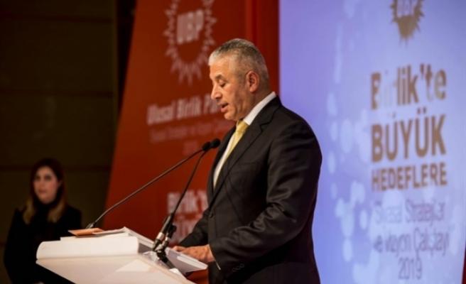 Taçoy, UBP'nin 44. kuruluş yıldönümü dolayısıyla mesaj yayımladı