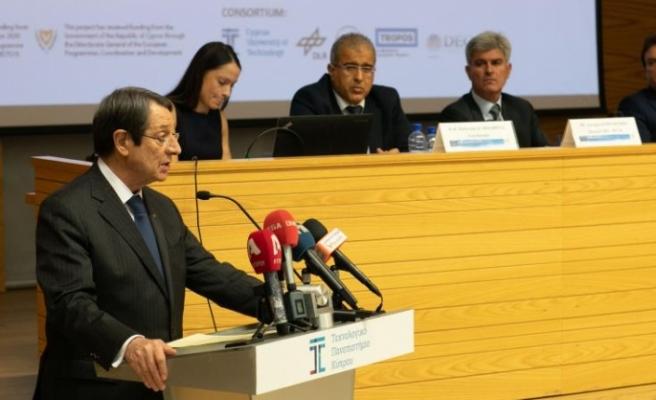 """Anastasiades: """"Kıbrıs araştırma ve yenilik için cesur ve iddialı hedefler belirliyor"""""""