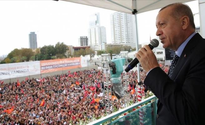 """Erdoğan: """"Ben cumhurbaşkanlığımı ortaya koyuyorum sen genel başkanlığını ortaya koyabiliyor musun?"""""""