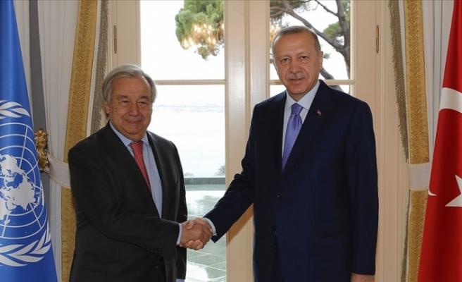 Erdoğan, BM Genel Sekreteri Guterres'i kabul etti