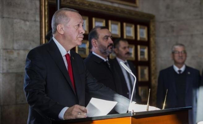 """Erdoğan: """"Cumhuriyetimizi ilelebet yaşatmak için tüm gücümüzle çalışacağız"""""""