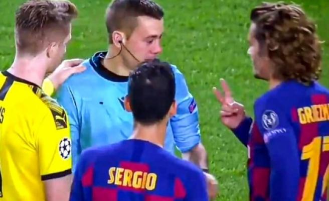 Griezmann'dan hakeme: Kaç parmak görüyorsun?