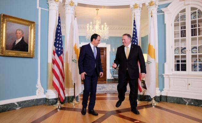 Hristodulidis, ABD Dışişleri Bakanı ile görüştü