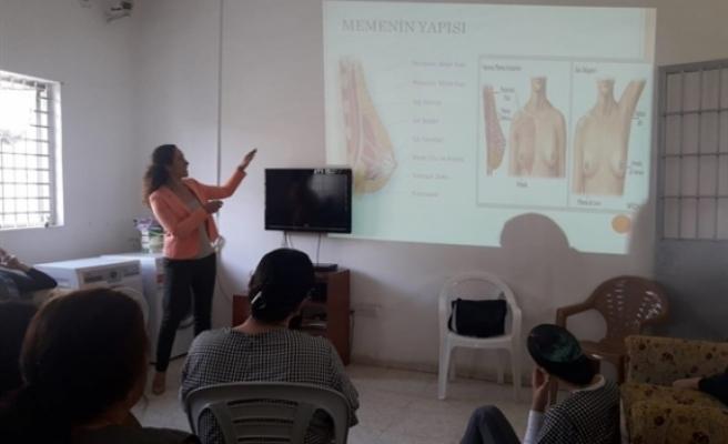 Kadın mahkumlara meme kanseri hakkında farkındalık eğitimi