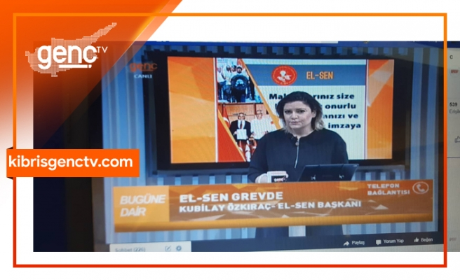 """Özkıraç Genç TV'ye konuştu: """"Lefkoşa'daki kesintilere grev nedeniyle müdahale söz konusu değildir"""""""