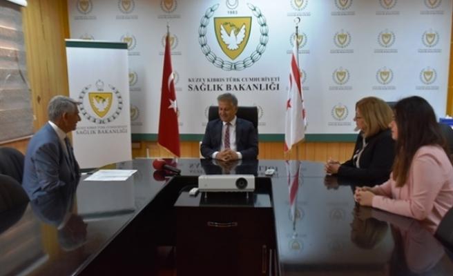 Pilli, Kıbrıs Türk Diyabet Derneği Başkanı Caner Arca ve beraberindeki heyeti kabul etti