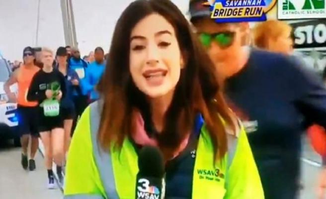 ABD'de tepki çeken görüntü... Canlı yayında kadın muhabiri taciz etti
