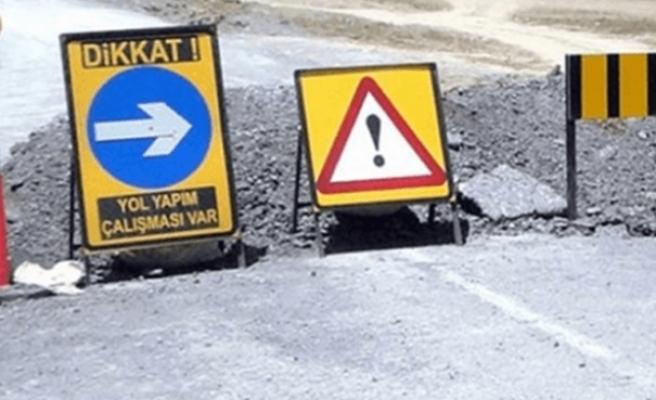Dikkat... Trafik tek şeritten verilecek
