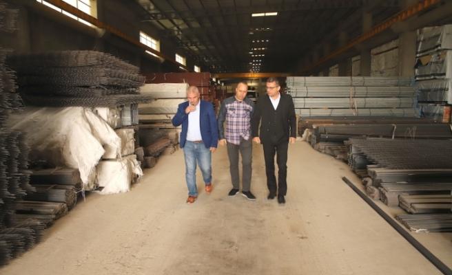 Erhürman, Mağusa Sanayi Bölgesini ziyaret etti