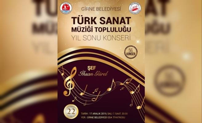 Girne Belediyesi Türk Sanat Müziği Topluluğu, yıl sonu konseri
