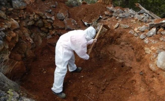 Kızılbaş bölgesinde bir kişiye ait kalıntı