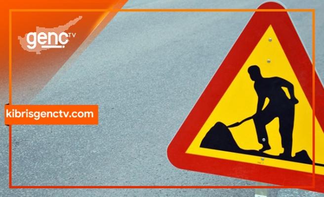 Lefkoşa Gazimağusa Anayolu'nda asfaltlama çalışması var