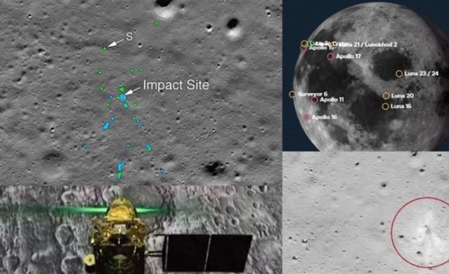NASA Hindistan'ın Ay yüzeyindeki kayıp modülü Vikram'ı buldu
