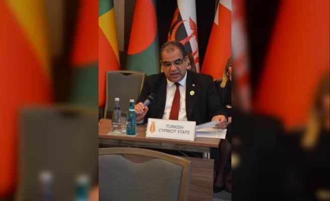 Sucuoğlu İslam İşbirliği toplantısında konuşma yaptı