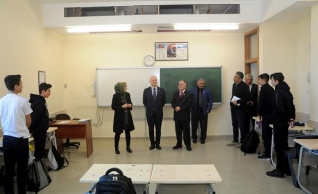 Töre, Hala Sultan İlahiyat Kolejini ziyaret etti