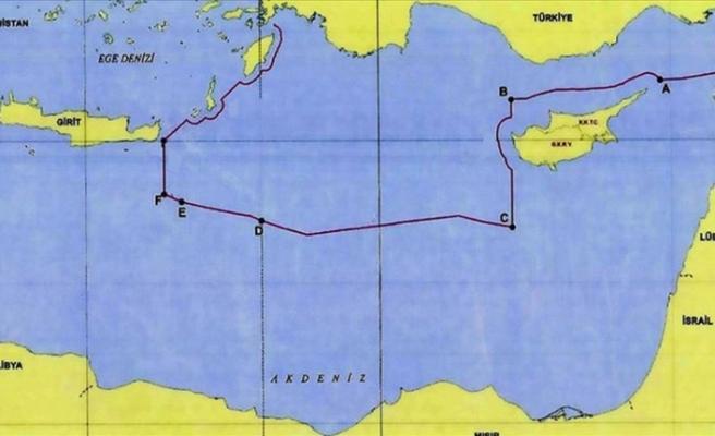 Türkiye, Doğu Akdeniz'deki kıta sahanlığı haritasını paylaştı