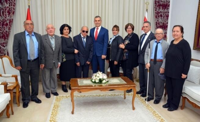 Uluçay, Kıbrıs Türk Engelliler Federasyonu heyetini kabul etti