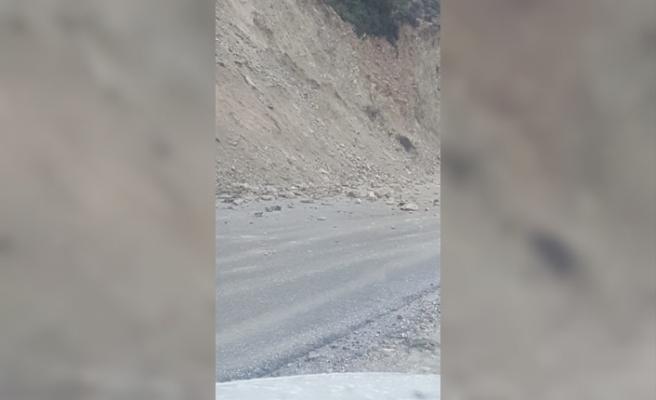 Ardahan- Kantara Anayolu'nda toprak kayması