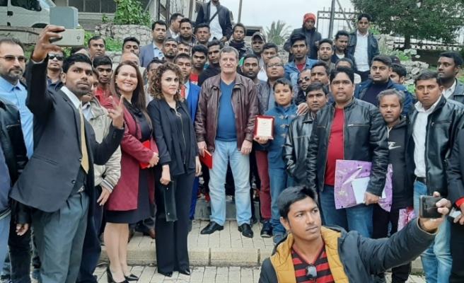 Arıklı, KKTC'de yaşayan Bangledeşliler ile biraraya geldi