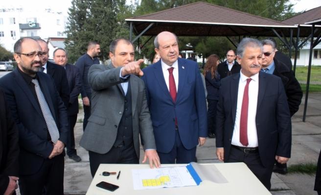 Başbakan, AMATEM'in inşa edileceği yerde incelemede bulundu