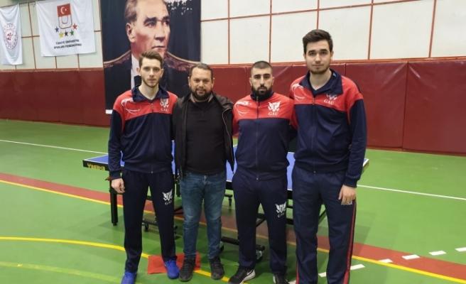 GAÜ Masa Tenisi Takımı sporcularından başarı