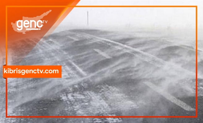 Girne Dağyolu zirve kısmında buzlanma